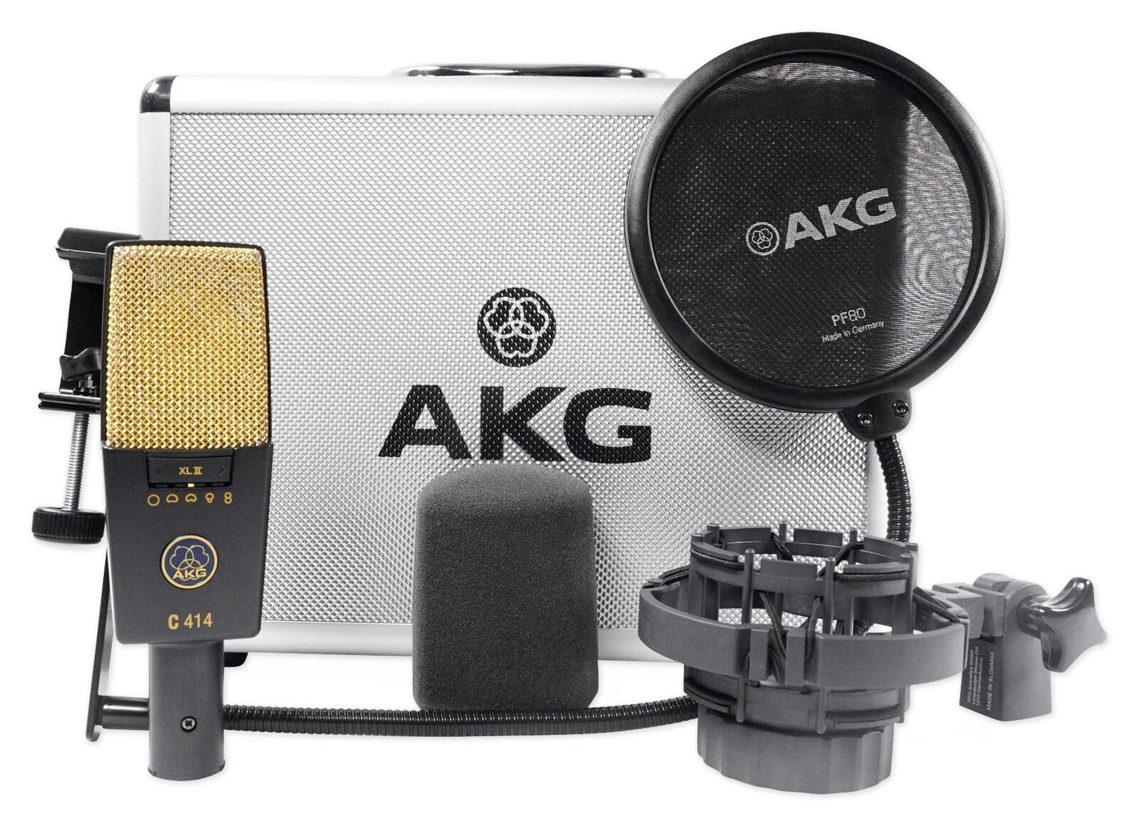 Un microphone à grand diaphragme et à motifs multiples.