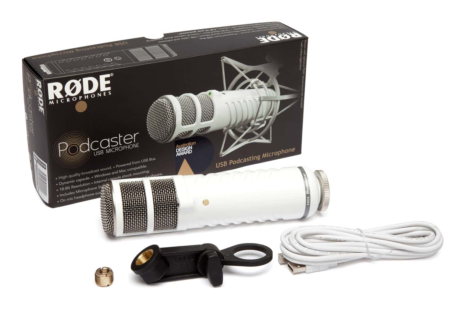 Rode Podcaster Usb packaging