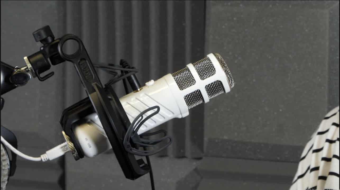 Rode  Podcaster en studio