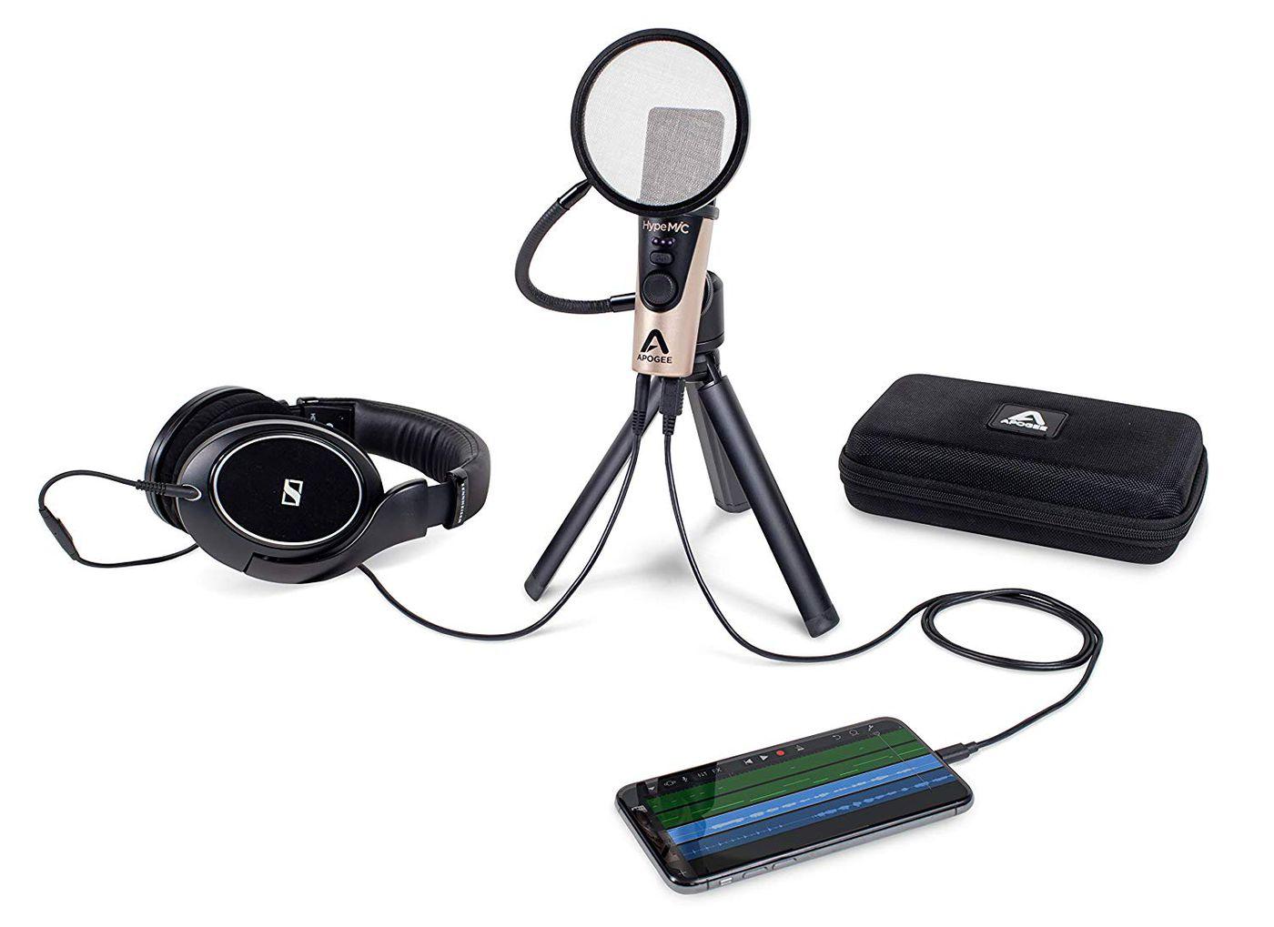 Microphone Apogee HypeMiC se connecte facilement avec un androïde