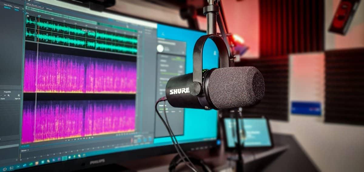 Le Shure M7V est un microphone dynamique équipé d'une sortie USB et XLR.
