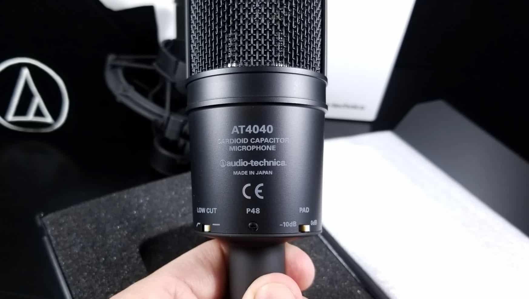 L'AT4040 d'Audio-Technica : Microphone cardio analogique