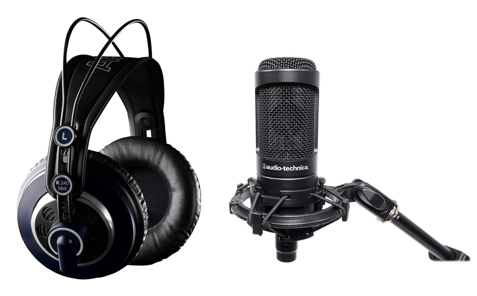 L'AT2050 produit des sons nets et précis à travers du casque audio.
