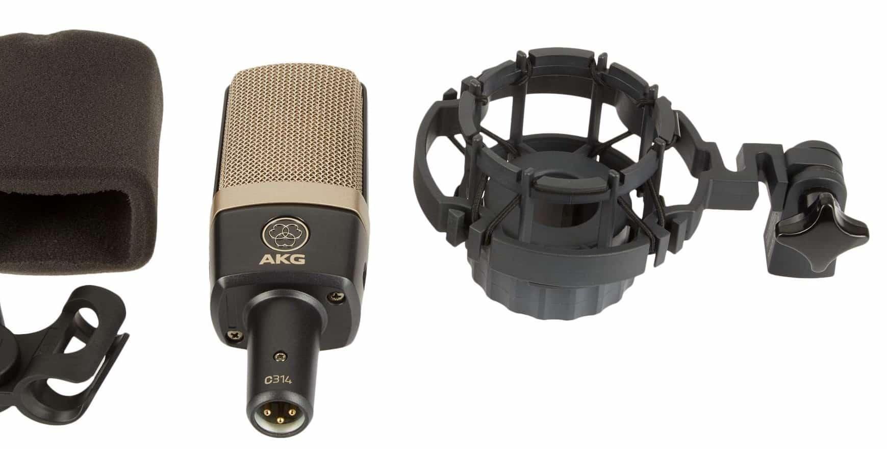 Le microphone à condensateur AKG C314 .