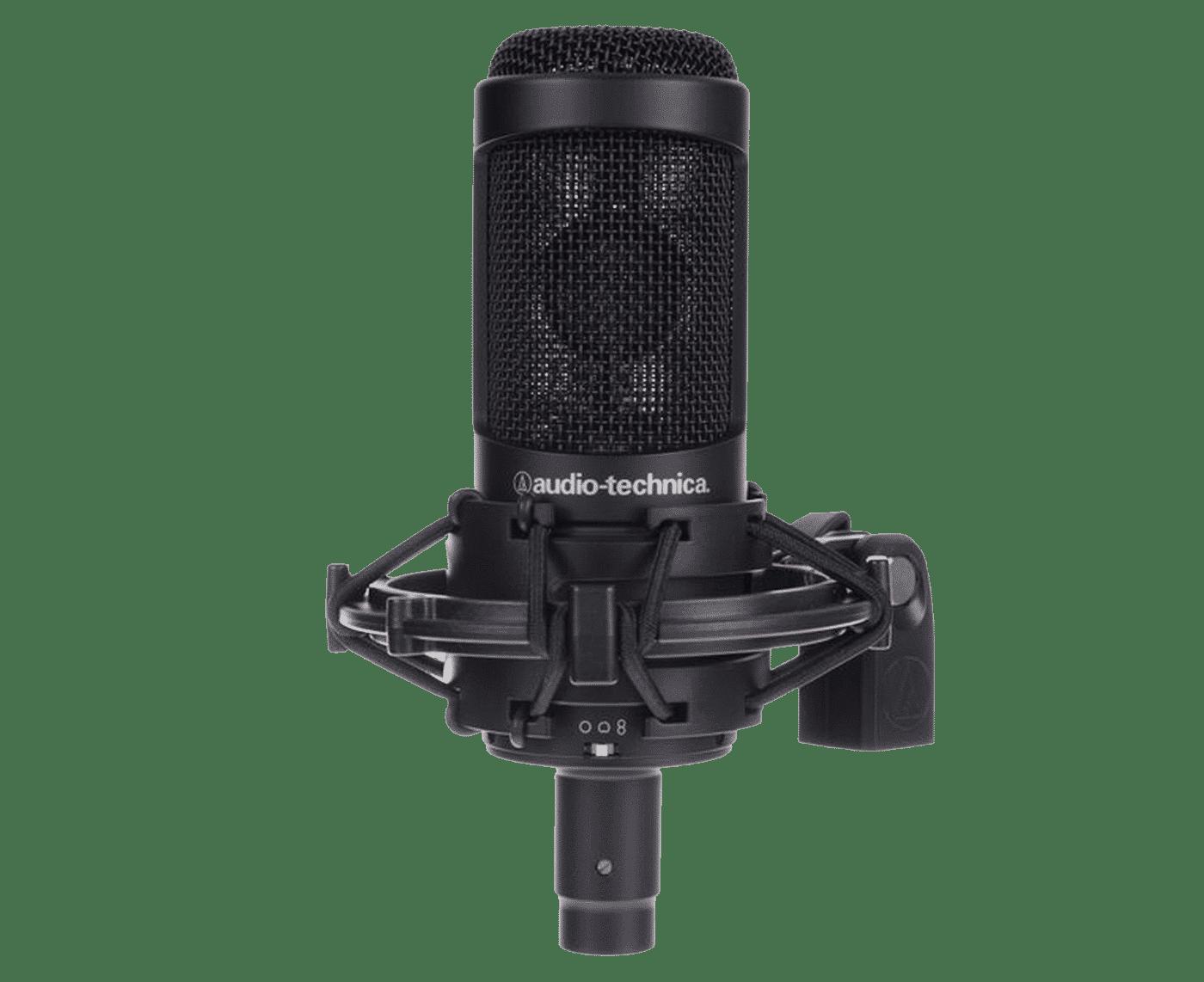 L'Audio-Technica AT 2050 est un excellent modèle de micro à condensateur à large diaphragme.
