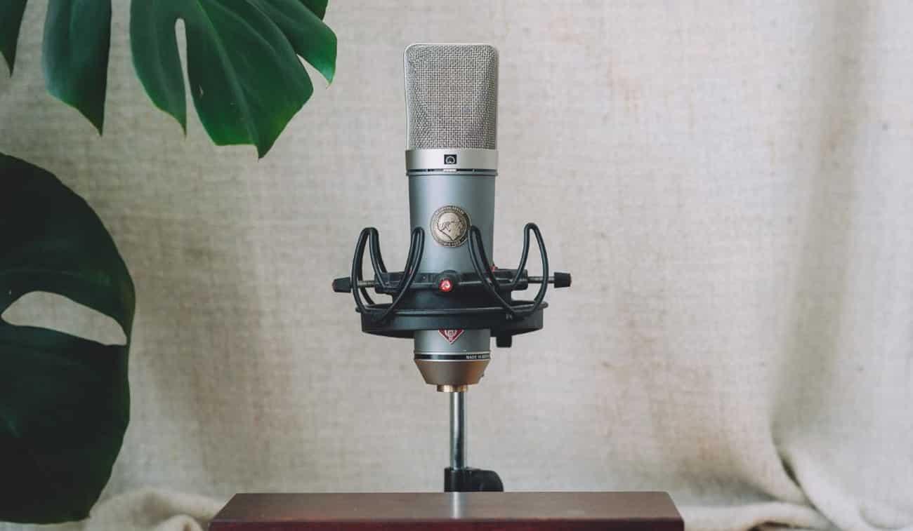 Un microphone dynamique doté d'une grande membrane.