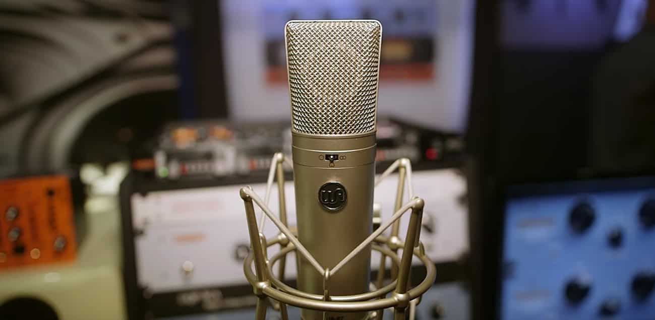 Warm Audio WA-87, un micro à directivité cardioïde.